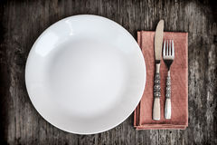 Rustic Table Setting Royalty Free Stock Images