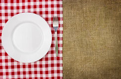 Rustic table setting Royalty Free Stock Image