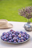 Rustic table setting Stock Image