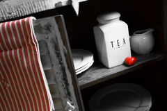 A rustic tea containers Royalty Free Stock Images