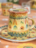 Rustic tea cup. Waiting for breakfast Stock Photography