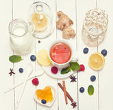Rustic tea Royalty Free Stock Images