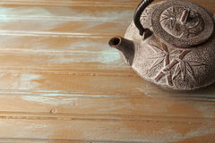 Rustic teapot Stock Photo