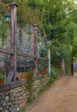 Rustic terrace Royalty Free Stock Photo