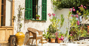 Rustic terrace in Mallorca Stock Photography