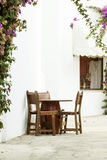 Rustic terrace in Mallorca Royalty Free Stock Image
