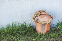Rustic Terracotta Clay Pot Royalty Free Stock Images