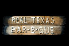 Rustic Texas barbecue sign Stock Photography