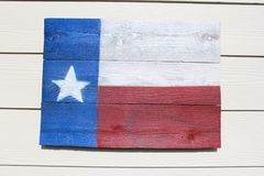 Rustic Texas Flag. A hand made Texas flag Royalty Free Stock Image