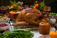 Rustic Thankgiving Dinner Royalty Free Stock Images