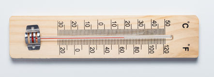 Rustic thermometer Royalty Free Stock Image