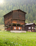 Rustic timber house, Switzerland Royalty Free Stock Photo