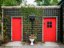 Rustic toilet buliding in a rural countryside Royalty Free Stock Photography