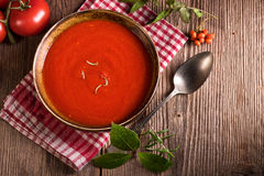 Rustic tomato soup Royalty Free Stock Images