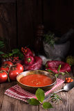 Rustic tomato soup Royalty Free Stock Photos