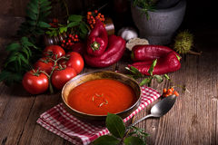 Rustic tomato soup Stock Photography