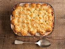 Rustic traditional british shepard pie Stock Photography