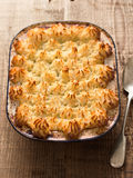 Rustic traditional british shepard pie Royalty Free Stock Photos