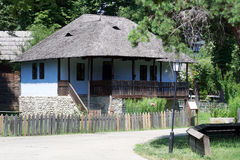 Rustic traditional household from Lesser Wallachia (Oltenia) folk area Stock Photos