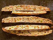 Rustic traditional italian biscotti Royalty Free Stock Photo
