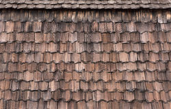 Rustic traditional shingle roof background. Royalty Free Stock Photos