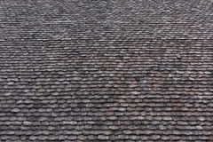 Rustic traditional shingle roof background. Royalty Free Stock Image