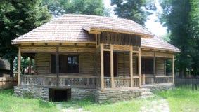 Rustic traditonal romanian old house Stock Photos