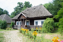 Rustic traditonal romanian old house Royalty Free Stock Images
