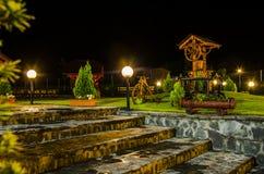 vintage place at night, transylvanian village Royalty Free Stock Photos