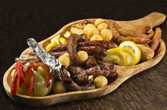 Rustic tray Stock Image