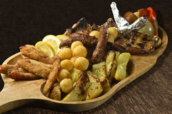 Rustic tray Stock Photography