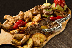 Rustic tray Royalty Free Stock Photography