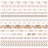 Rustic Tribal Borders Elements Stock Image
