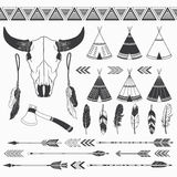 Rustic Tribal Collection. Stock Photo