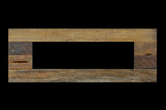 Rustic unfinished wooden photo frame Royalty Free Stock Image