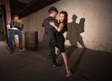 Rustic Urban Tango Dancers Stock Photography