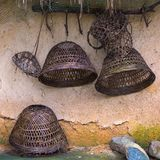 Rustic utensils in the jungle. Sanya Li and Miao Village. Hainan, China. stock photo