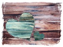 Rustic Valentine Heart Royalty Free Stock Photos