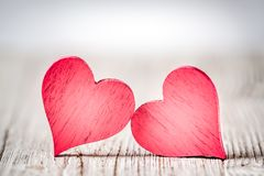 Rustic Valentines Day Hearts royalty free stock photo