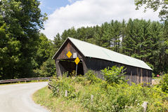 Rustic Vermont Covered Bridge Royalty Free Stock Image