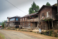 Rustic Village in Burma Royalty Free Stock Image