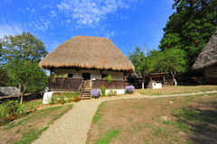 Rustic village hut from Romania Royalty Free Stock Images