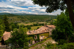 Rustic village in the Provence. A rustic village with in the background the landscape of the provence Royalty Free Stock Photography