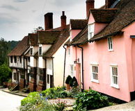 Rustic Village Street. Historic row of terrced houses in an English Village Street Royalty Free Stock Image
