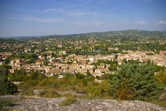 The rustic village of Vaison la Romaine Stock Image