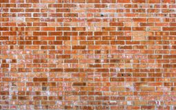 Rustic vintage bakcground of red brick wall. Cladding with cement seams stock images