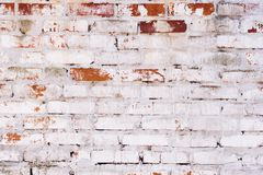 Rustic vintage bakcground of red brick wall. Cladding with cement seams royalty free stock images
