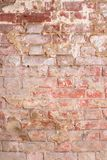 Rustic vintage bakcground of red brick wall. Cladding with cement seams royalty free stock photo