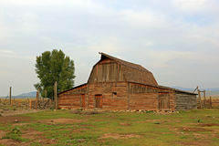 Rustic vintage barn in Wyoming. Stock Photography
