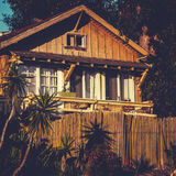 Rustic Vintage Beach House California. Retro Style Classic Surf Shack California Coast Royalty Free Stock Photo